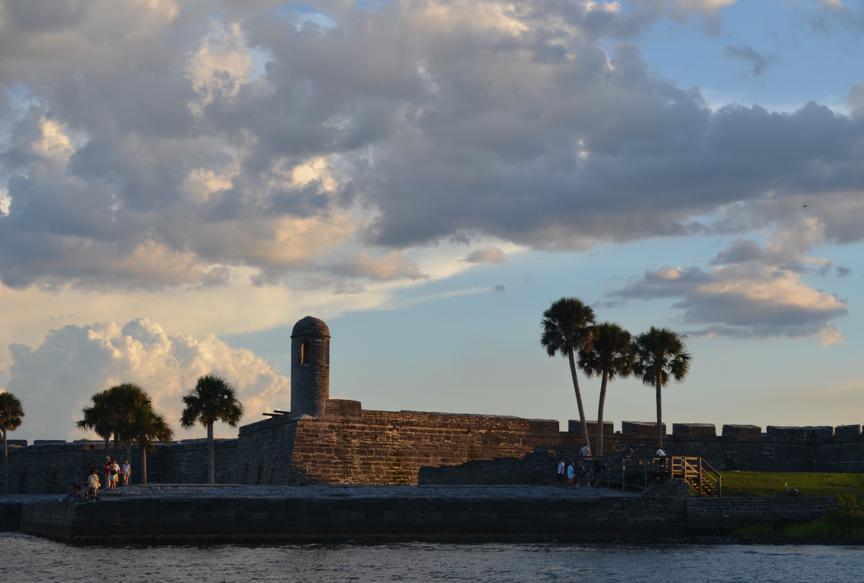 Castillo de San Marcos under the summer sky